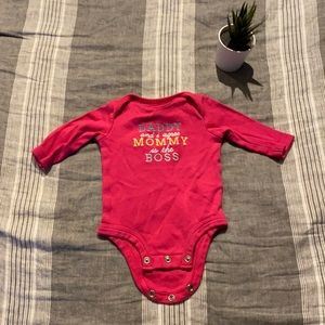 Carter's Mommy is the Boss onesie